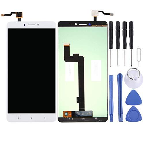De Galen Accesorios Kits de repuesto LCD para Xiaomi Mi Max 2 pantalla LCD y digitalizador montaje completo (color: blanco)