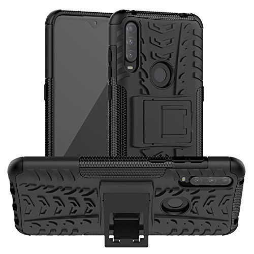 LiuShan Kompatibel mit Alcatel 3L (2020) Hülle, Dual Layer Hybrid Handyhülle Drop Resistance Handys Schutz Hülle mit Alcatel 3L (2020) Smartphone (Nicht kompatibel mit Alcatel 3L(2019)),Schwarz