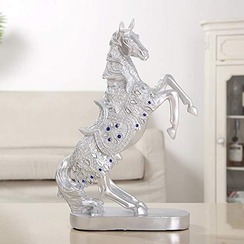 WANGXINQUAN Decoración creativa para el hogar, sala de estar, dormitorio, oficina, diamantes de imitación azules, regalos bellamente decorados (color: plata)