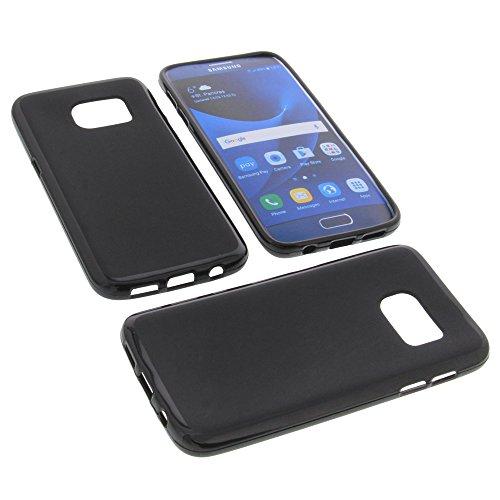 foto-kontor Custodia per cellulari Samsung Galaxy S7 in Gomma TPU di Colore Nero