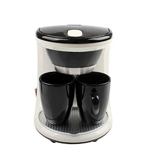 QHYY Mini Electric Kaffeemaschine Haushaltshalbautomatische Brewing Teekanne Kaffeemaschine Espresso 2 Cup