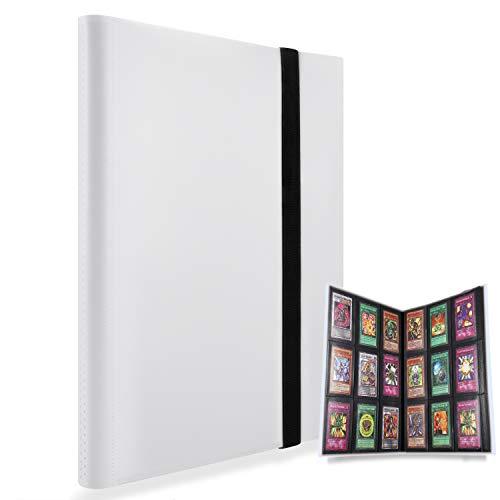 MUROAD Premium 9 Pocket Sammelalbum , Sammelkartenalben mit 360 Kartenkapazität, Kartenhalter für Pokemon, YuGiOh usw (Weiß)