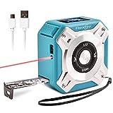 Medidor de Láser Distancia Telémetros Láseres de Línea Medidor Laser Exteriores Distanciometro Cintas Métricas 100 M Multifunción 5m 40M Aplicar para Medición Área Volumen USB,Blue