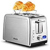 Toaster 2 Slice,Compact Stainless Steel Toaster with 7...