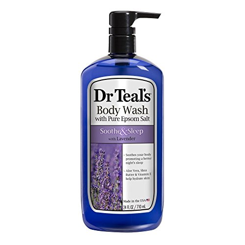 Dr. Teal's Ultra Moisturizing Body Wash Sooth and Sleep with Lavender, 24 Fluid Ounce - 4 Pack by Dr. Teal's