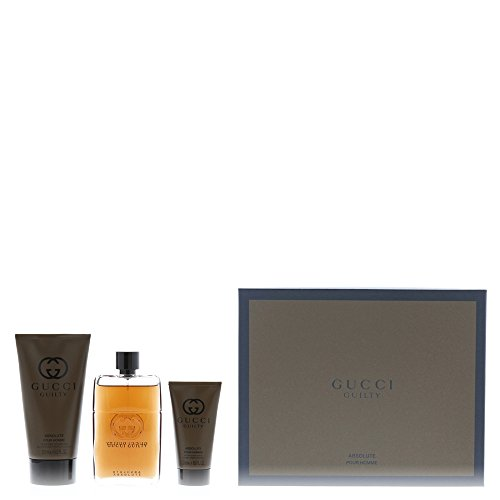 Gucci Guilty Absolute Pour Homme cadeauset 90ml Eau de Parfum, 50ml Aftershave Balm, 150ml douchegel
