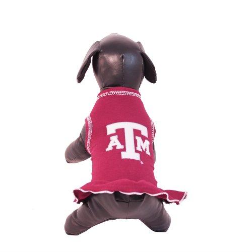 NCAA Texas A&M Aggies Cheerleader Dog Dress (Team Color, Small)