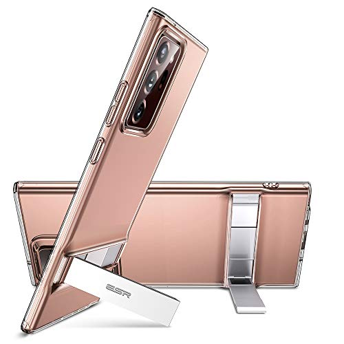 ESR Ständer Hülle für Samsung Galaxy Note 20 Ultra [Vertikaler & Horizontaler Stand] [Originales Silikon & Verstärkter Fallschutz] – Klar