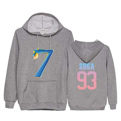 Kapuzenpullover Fã¼R Herren BTS T-Shirt Musik Pullover Rollkragenpullover Navy Sweatshirt Sportswear Outfit Herren Damen XL