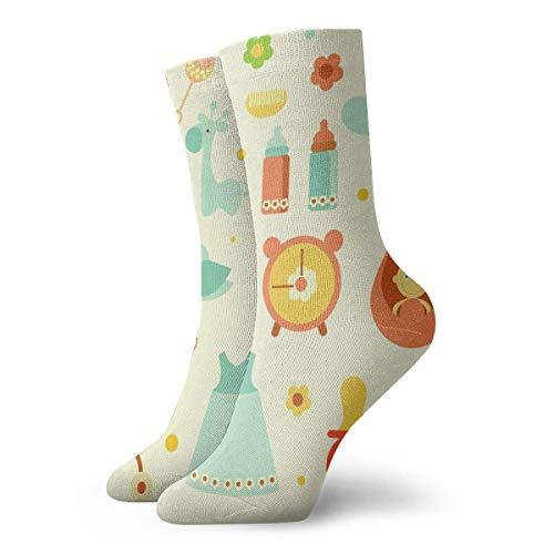 Drempad Luxury Calcetines de Deporte Baby Unisex Funny Art 3D Print Casual Crew Socks Athletic Crew Socks