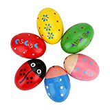 Accmor Wooden Egg Shakers, Wooden Percussion Musical Egg, Maracas Egg Shakers, Early Learn...