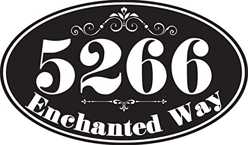 Personalized Metal Address Plaque - Oval Durable Metal Sign - 12' x 7' Display Address and Street Name - Custom Wall Mounted - Great Housewarming & Decor Gift Under $25