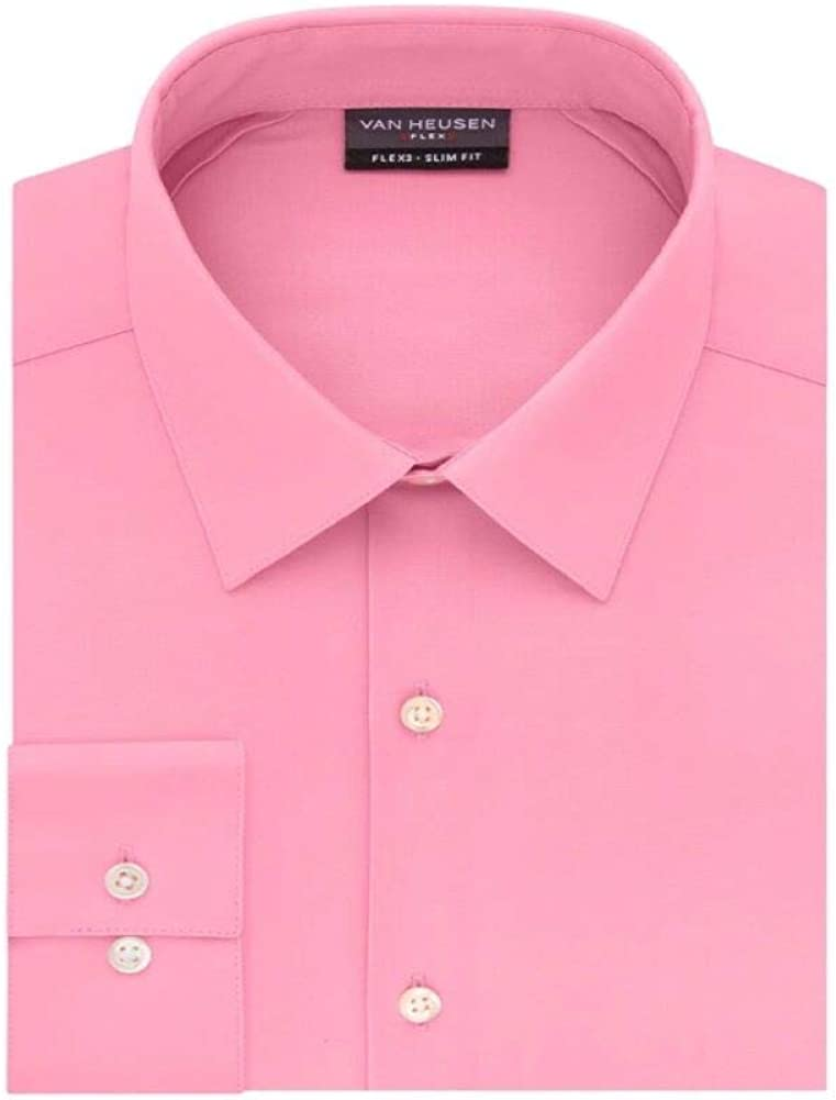 Van Heusen Flex Slim Fit 4-Way Stretch Dress Shirt, 13-131/2 32-33
