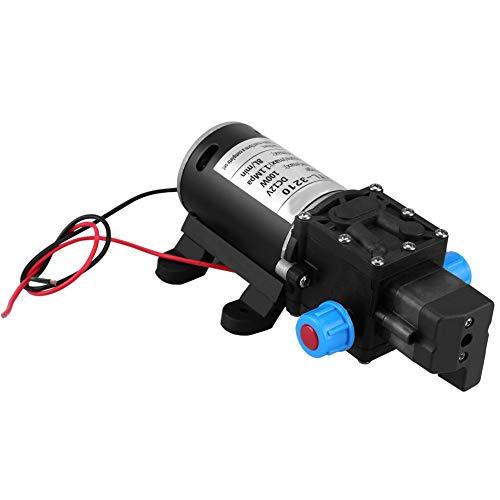 12 V DC Membran Selbstansaugende Wasserpumpe, Keenso 100 Watt 8L / Min 160 Psi Hochdruck Selbstansaugende Wasserpumpe Intelligentes Ventil (Mit Druckschalter) Für Auto Waschmaschine Solarenergie Wasse