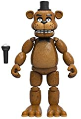 """From the hit game Five Nights at Freddy's, Freddy Fozbear, as a 5"""" articulated vinyl action figure from Funko! Figure stands 5 inches and comes on a card with a window display box. Check out the other Five Nights at Freddy's figures from Funko! Colle..."""