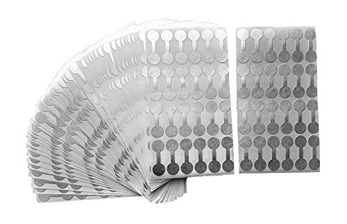 Jewelry Repair, Price and Indentification Tags/Tyvek Self Adhesive Short Dumbbell/Barbell Jewelry Price Tags 1000 Pieces (1000 Pack, Silver)