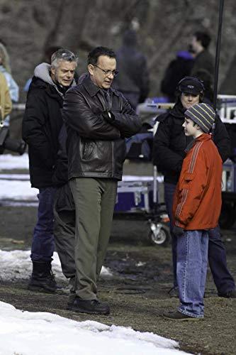 Tom Hanks auf dem Set von Extrem Laut und Unglaublich nahe im Central Park Fotodruck (8 x 10)