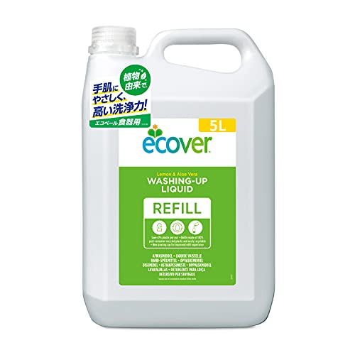 Ecover Geschirrspülmittel Zitrone und Aloe Vera, 5 l