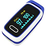 Pulse Oximeter Fingertip Blood Oxygen Saturation Monitor Your Pulse Rate and SPO2 Portable and Suitable for Travel Exercise and Home