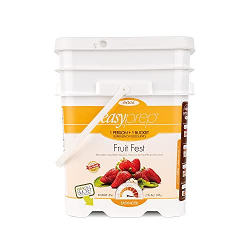 EasyPrep Fruit Fest Emergency Food Storage Kit, Freeze-Dried Fruit, Variety (2-Pack | 336 Total...
