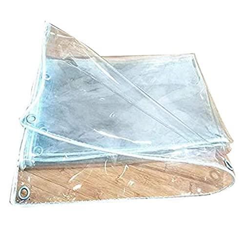 HAI RONG Lonas claras Tarpaulin A Prueba de Agua Sala de Sol Resistente a Prueba de Lluvia Impermeable Transparente Sin Fugas de Agua Agujero de Metal PVC Vidrio Suave, 15 tamaños Lona Premium