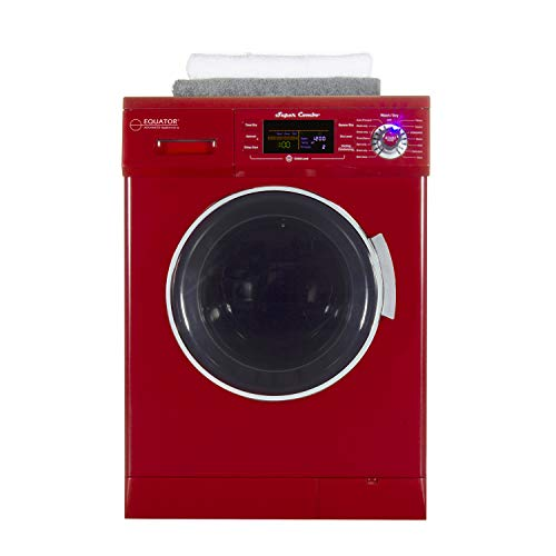 Equator All-in-one Compact Combo Washer Dryer 1200 RPM spin, Auto water level, Sensor Dry Optional Venting/Condensing in Merlot