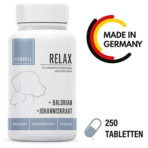 Canobel® Relax - Natürliches Beruhigungs-Mittel für Hunde - Gegen Angst und Anti Stress, mit Baldrian und Johanniskraut