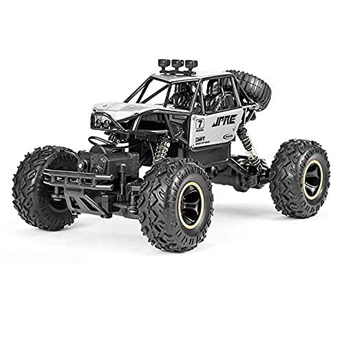 ADSVMEL Aleación 45 ° Stunt Crawler Cars 2.4Ghz Radio Control 4WD Off-Road Desierto Deriva Todo Terreno Buggy Electrónico Hot Wheels Bigfoot para Niños Niñas Niños Adultos RC Hobby Regalos