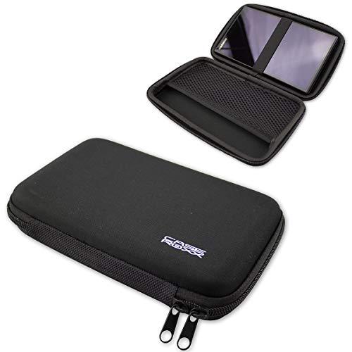 caseroxx GPS-Tasche für Garmin DriveSmart 61/65 / 71 LMT-D, (GPS-Tasche mit Reissverschluss & Gummizug in schwarz)