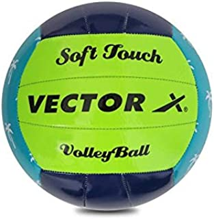 Vector X VB-SFT-NAVY-GRN-BLU-4 Synthetic Volleyball, Size 4 (Multicolour)