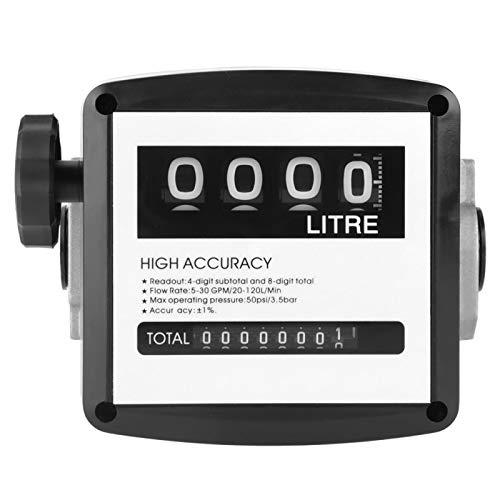Medidor de combustible mecánico, 1% de alta precisión, 1 pulgada, 4 medidores digitales de flujo de gasóleo y gasóleo, medidor de contador de flujo diésel