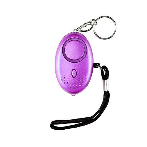 Alarma Personal,130DB Alarma Seguridad Autodefensa con Luz LED Ataque de pánico Llavero Alarma para Mujeres, Niños, Ancianos, Turno Nocturno(Rosado)