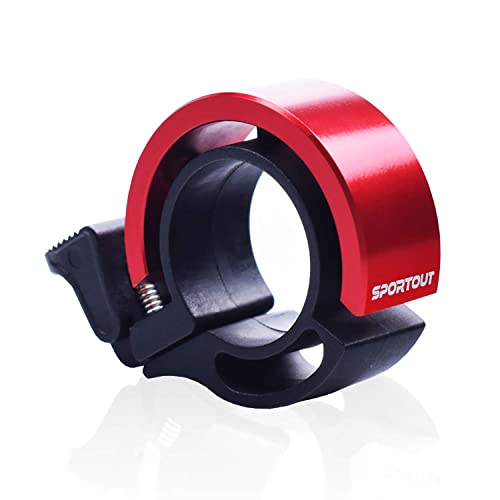 Sportout Mini Aluminiumlegierung Innovative Fahrradklingel Fahrrad Ring mit Lauten Klaren Klaren(ROT)