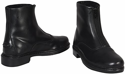 TuffRider Ladies Starter Winter Fleece-Lined Front Zip Paddock Boots - Synthetic - Black - Size 9