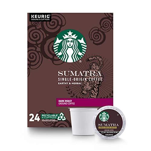 Starbucks Sumatra Dark Roast Single Cup Coffee for Keurig Brewers,0.42 Ounce (Pack of 24)