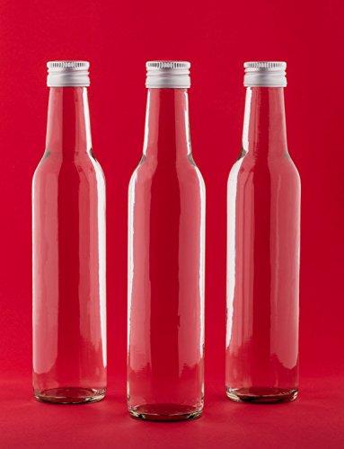 20 leere Glasflaschen 250 ml BOR Saftflaschen mit Schraubverschluss zum selbst Abfüllen 0,25 Liter l Likörflaschen Schnapsflaschen Essigflaschen Ölflaschen von slkfactory