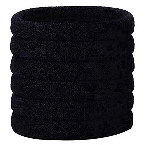 Ealicere Haargummis, 30 Stück Schwarz Elastische Haarband, Stirnband haarbänder Gummibänder Zubehör für Haarfrisuren von Frauen und Mädchen