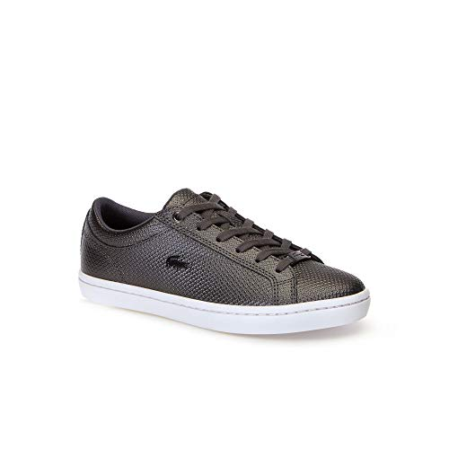 Lacoste Damen Straightset 318 2 Caw Sneaker, Schwarz (Blk/Wht 312), 37 EU