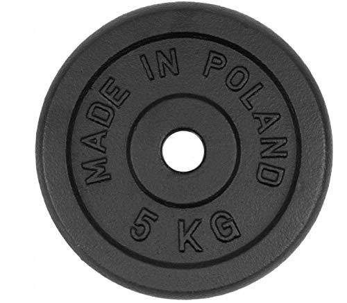 QLS Pesas de disco Sport 1 pieza Peso para mancuernas entrenamiento de fuerza 1,25-20 kg (5 kg #E06608)
