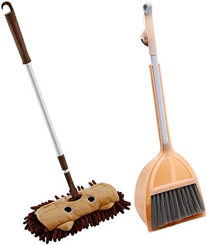 YYhkeby Baby Mini House Limpieza de Limpieza Juego de Juguete Broom Dustpan Set Telescópico Piso Jialele (Size : C)