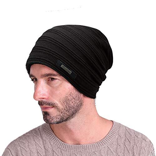 EINSKEY Beanie Herren Damen Winter Warme Wollmütze Skimütze Schwarz
