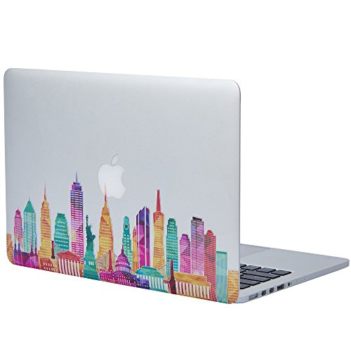 NDAD Famous Buildings in the United States Removable Vinyl Decal Sticker Skin for Macbook Pro Air Mac 13' Laptop