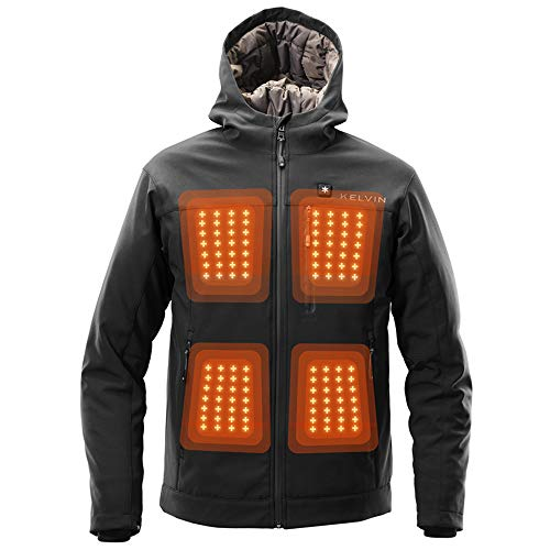 Kelvin Coats Heated Jacket for Men - 10Hr Battery, 5 Heat...