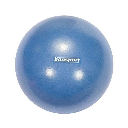 bonsport Mini Pilates Ball, 22 cm blau - Gymnastikball für Bauch-Beine-Po Übungen