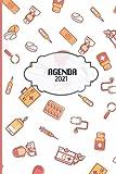 Agenda 2021: Tema Microbiologia Medicina Agenda Mensual y Semanal + Organizador Diario I Planificador Semana Vista A4