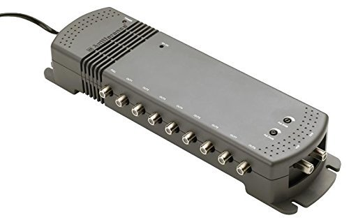 Antiference A281LRPROLTE 8 Way 2-In 8-Out Aerial Amplifier for TV - Black