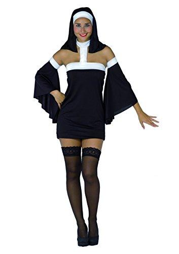Ciao Fiori Paolo 25878 - Suora Monaca Sexy Costume Burlesque, Donna Adulto