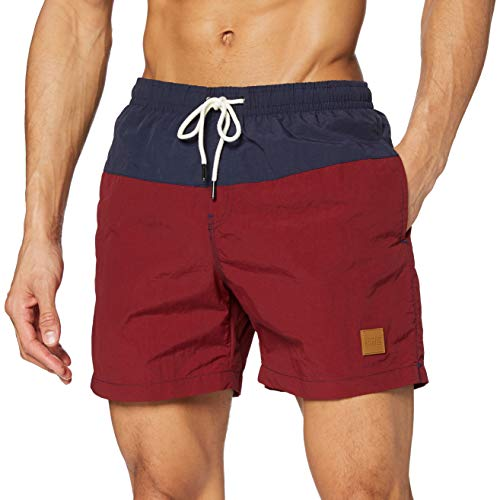 Urban Classics Herren Badehose Block Swim Shorts nvy/burgundy S