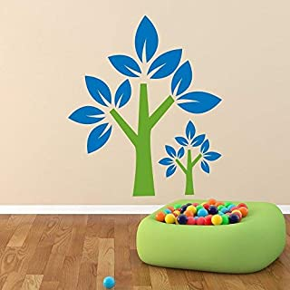 Vinyl Sitcker Yoga Wall Decal Trees Design Home Art Decorating Ideas Mural Vinyl Stickers Living Room Sport Gym Kids Bedroom Decor 38in x 45in