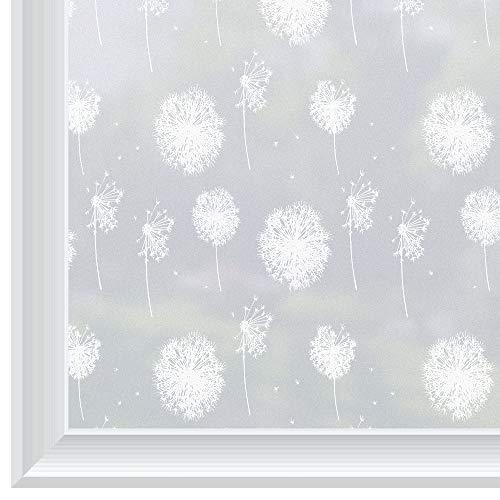 rabbitgoo Pegatina Ventana de Privacidad Vinilo Deslustrado de Ventana Láminas Electrostáticas para Ventanas Pegatina Decorativa Translúcida Sin Pegamento para la Navidad 90x200cm